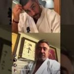 O Kancho Pedro Roiz μένει στο dojo για να συνεχίσει την επαφή με τους μαθητές και τις προπονήσεις